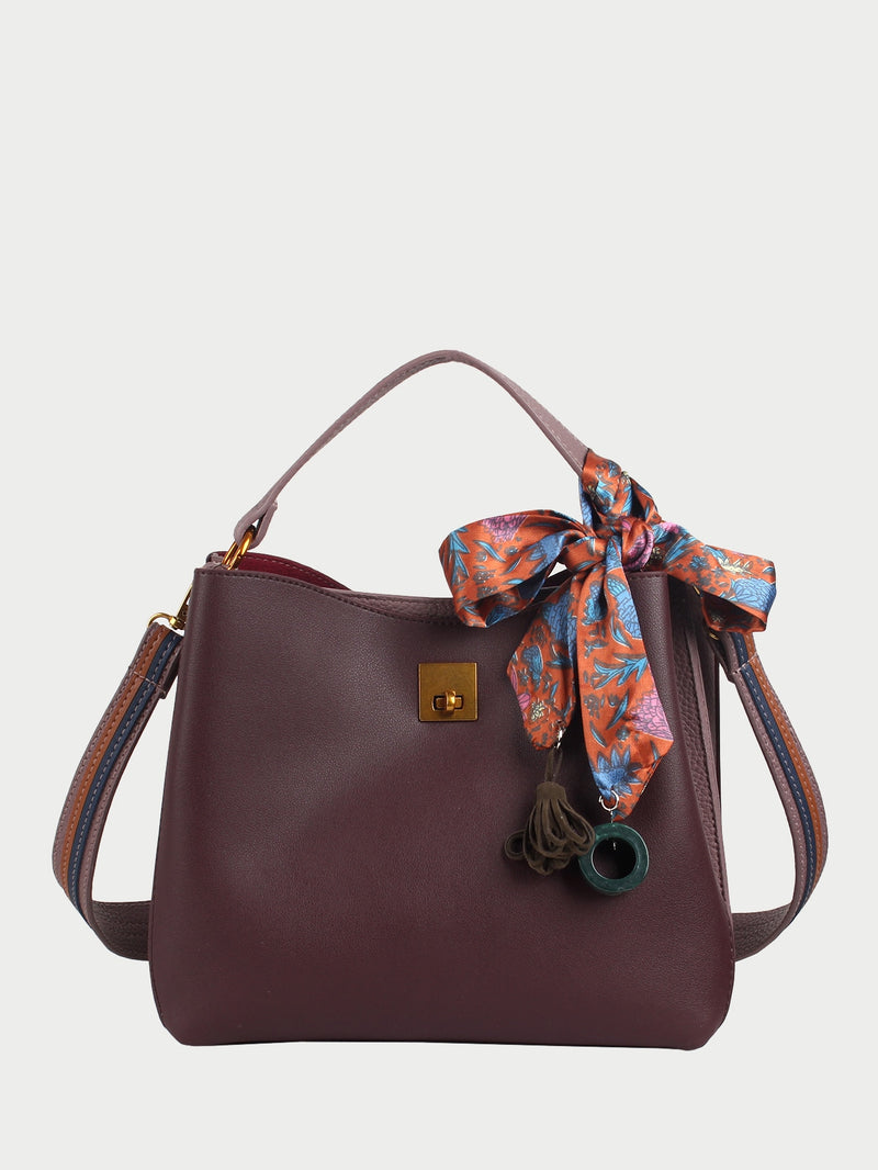 Aurelie Shoulder Bag (Brown)