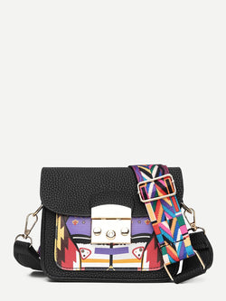 Greta Abstract Print Compact Bag