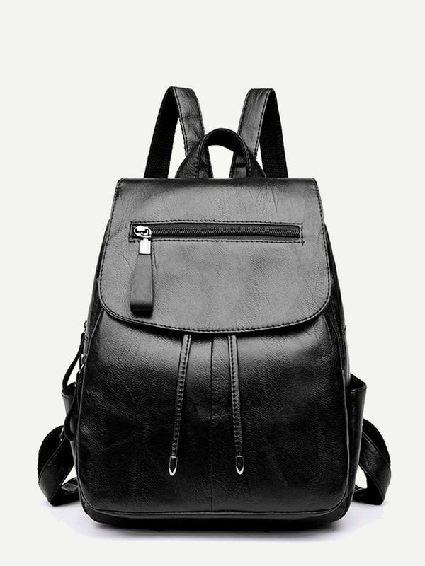 Melody Leather School Travel Backpack