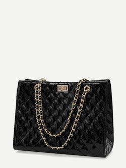Jade Quilted Satchel
