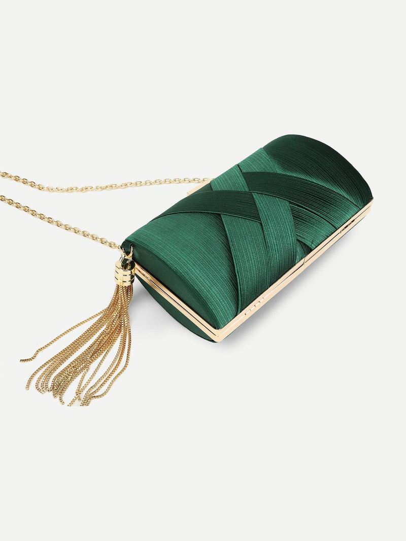 Alexandra Satin Clutch