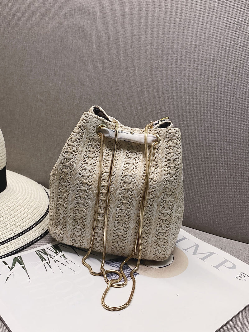 Charlotte's Twilly Scarf Woven Bucket Bag