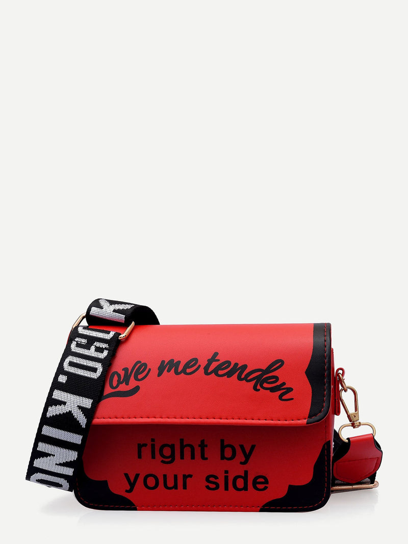 Ashley Crossbody Bag (Red)
