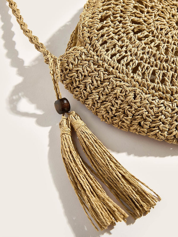 Lyrica's Tassel Detail Braided Crossbody Bag