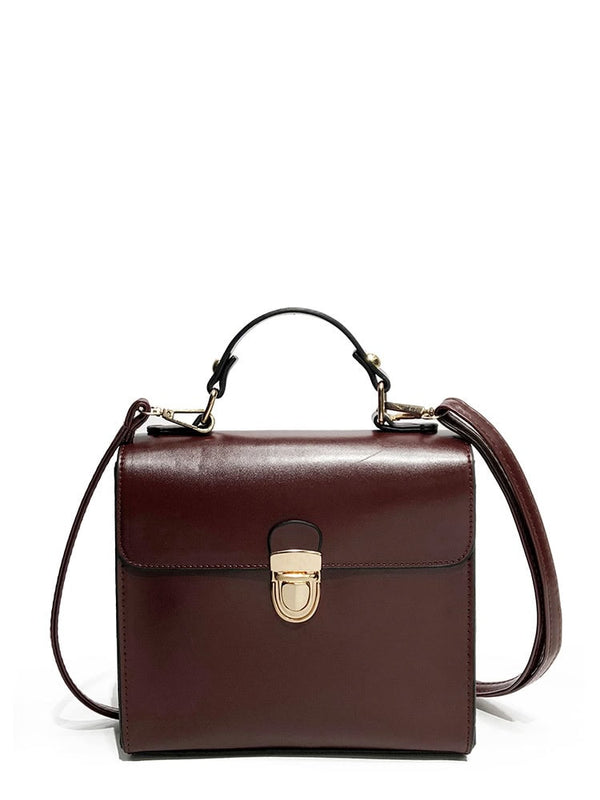 Marjorie Leather Crossbody Travel Messenger Tote Bag