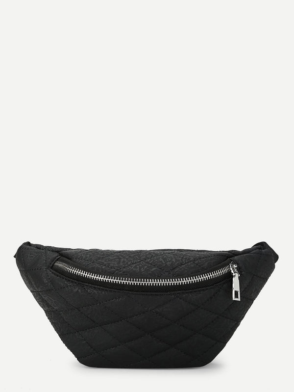 Kate's Zipper Front Quilted Bum Bag