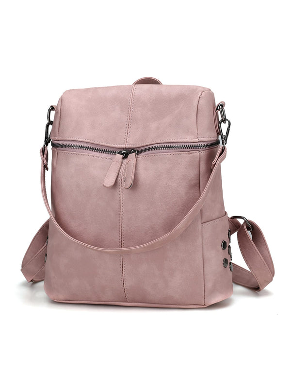 Ilana Pink Suede Everyday School Travel Backpack
