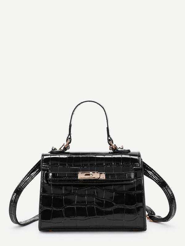 Elise Shoulder Bag (Black)