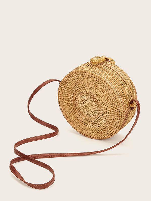 Tabitha's Braided Round Crossbody Bag