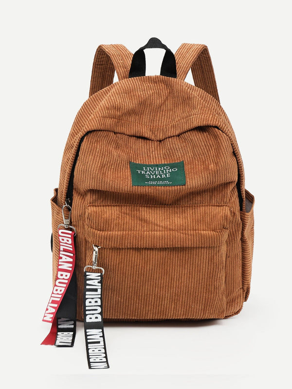Sophia Corduroy Backpack (Brown)