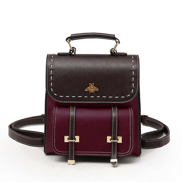 Adalene Vintage Leather Women Backpack