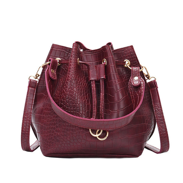 Lucile leather Bucket Bag