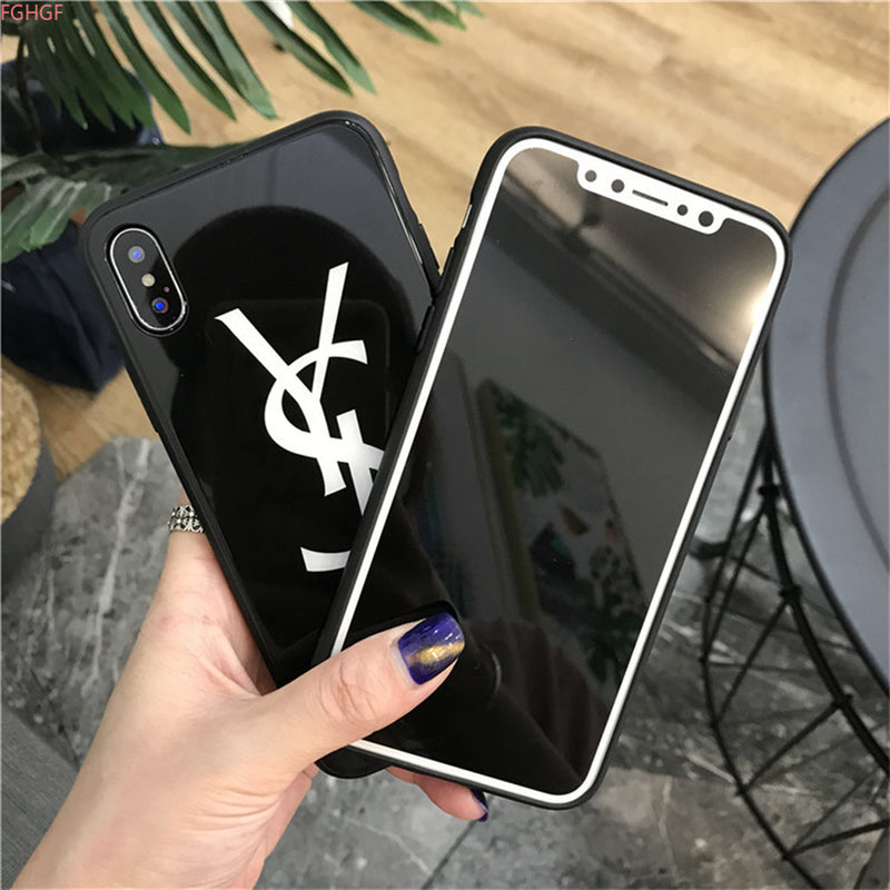 YSL (Yves Saint Laurent inspired phone case) iPhone Tempered Glass Umx Cases