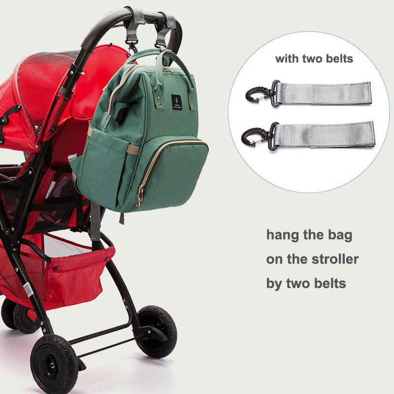 Waterproof Mummy Travel & Diaper Backpack With Stroller Straps