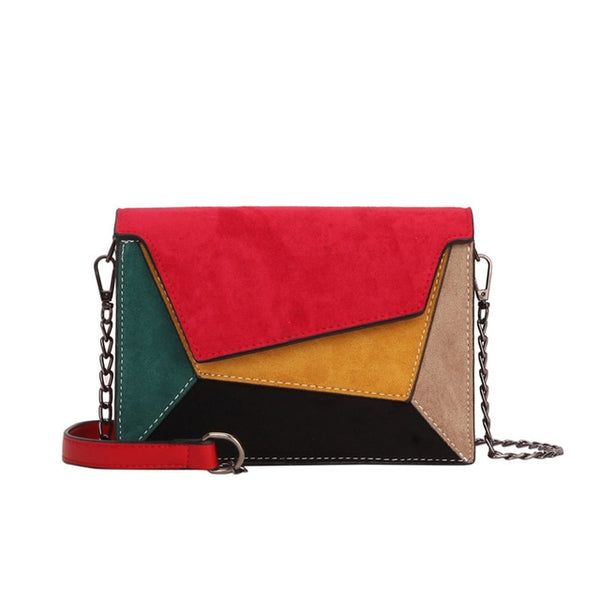 Célia Suede Patchwork Cross Body Bag