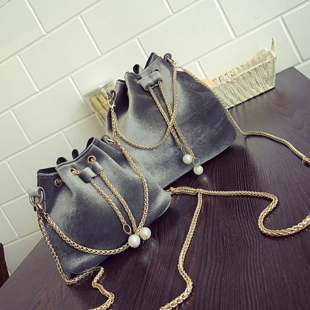 Simone Velour Bucket Bag