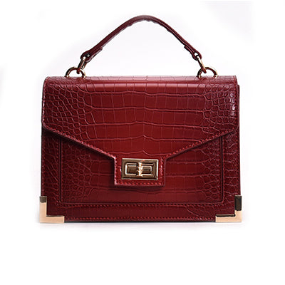 Melanie Crocodile Leather Classics Handbag