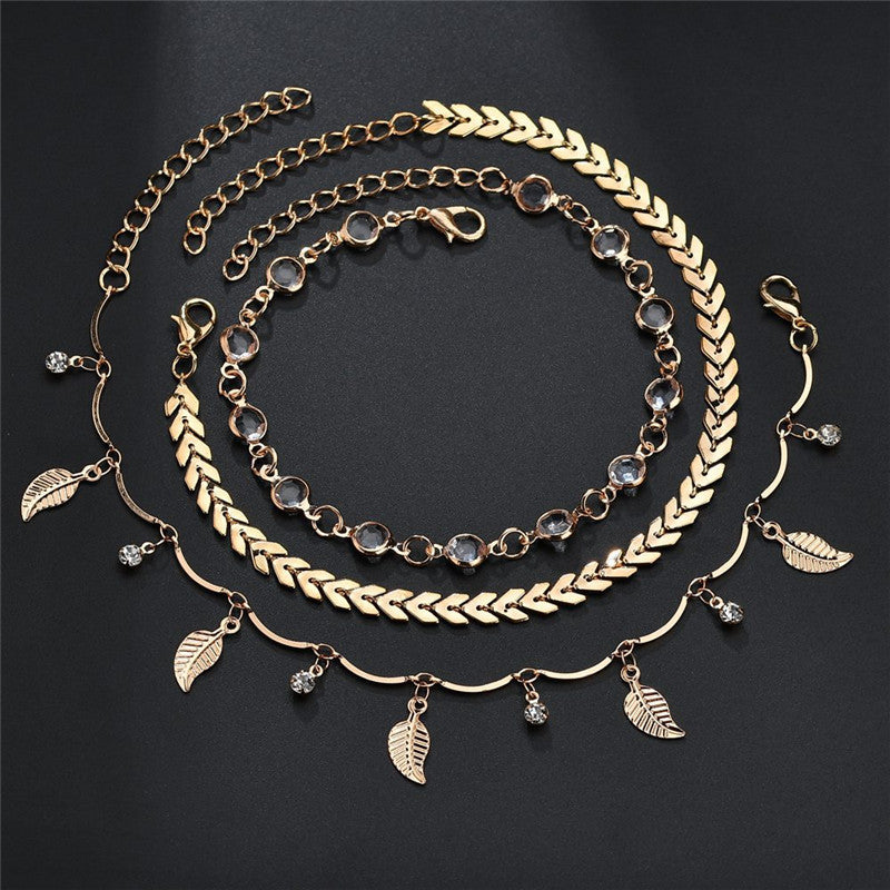 Gold Tone Anklets