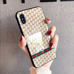 Coque iPhone Umx de Gucci en verre trempé