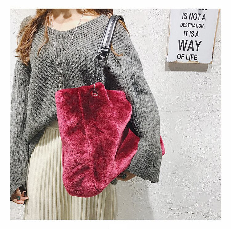 Fur Women Shoulder Bag