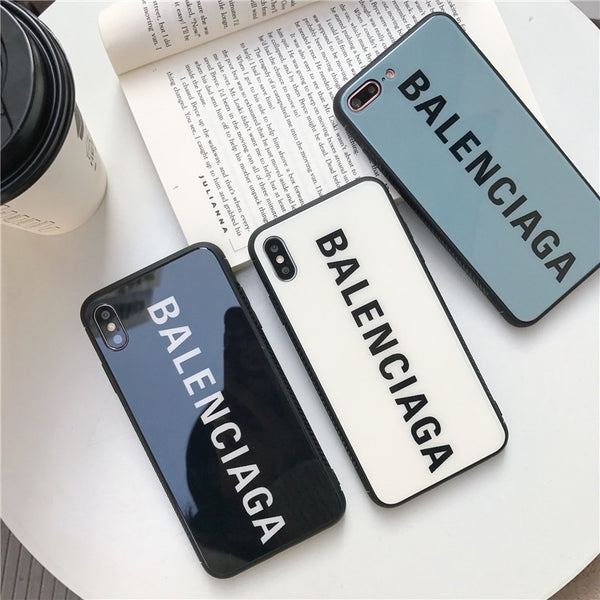 Balenciaga iPhone and Samsung Tempered Glass Umx Cases