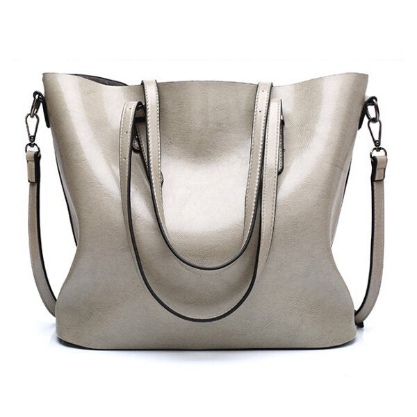 Violette Women's Large Leather Shoulder Tote Bag