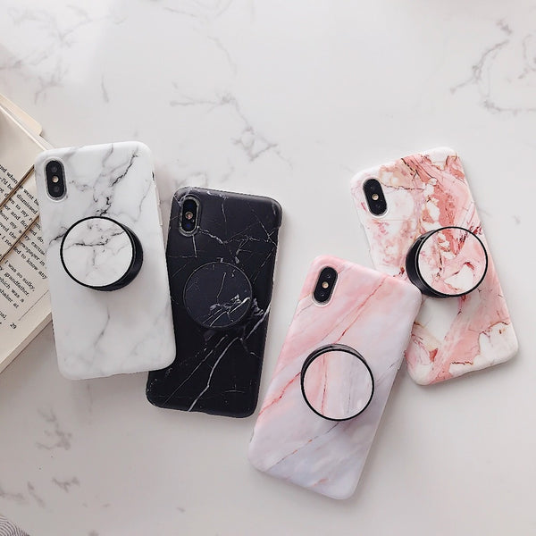 Lmds Marble iPhone Case With PopSocket