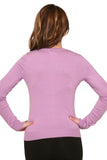 0202 Crewneck Cardigan in Lavender