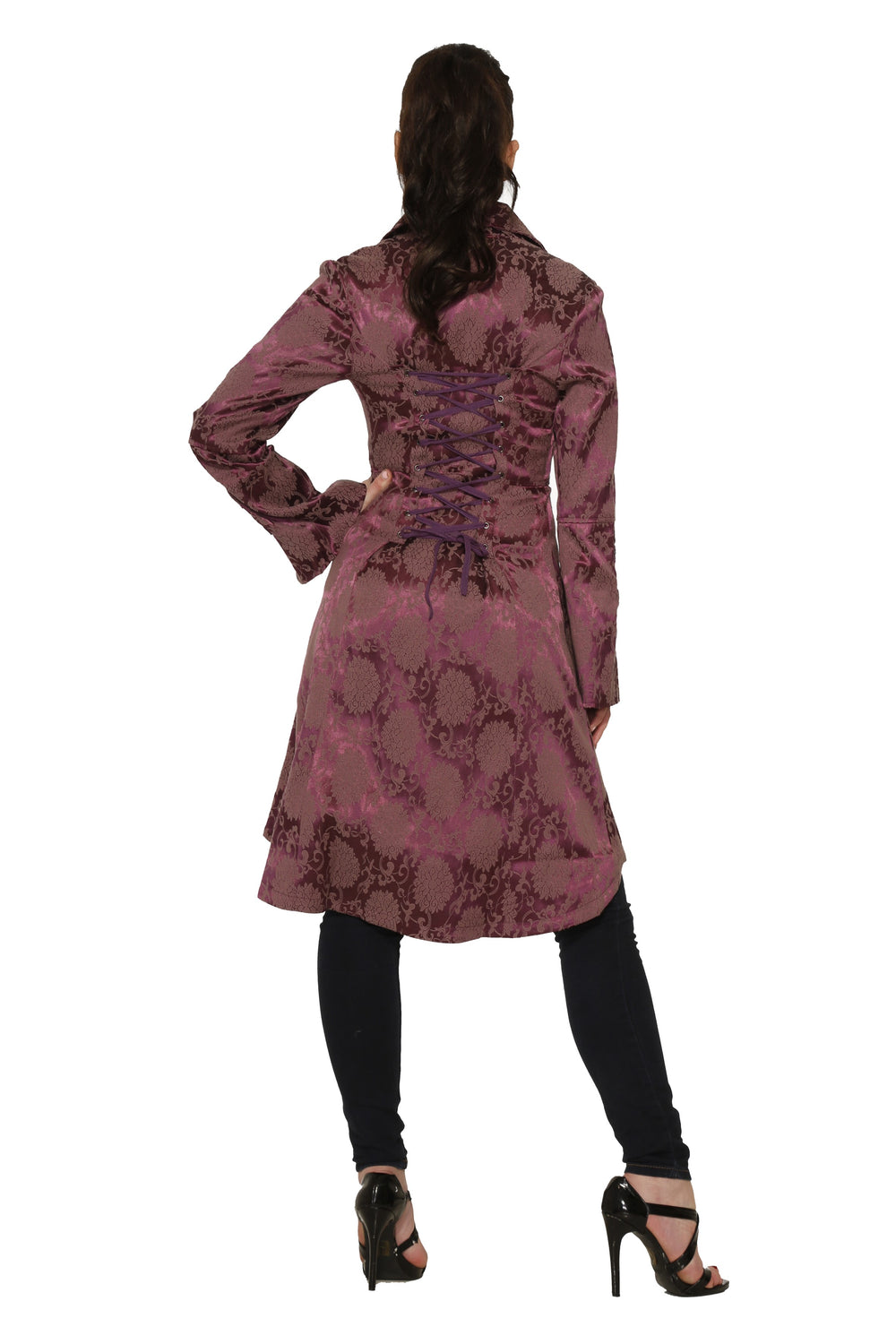 10193 Midnight Stroll Coat in Purple