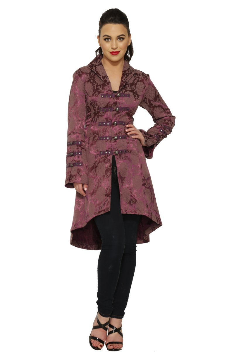 0303 Midnight Stroll Coat in Purple