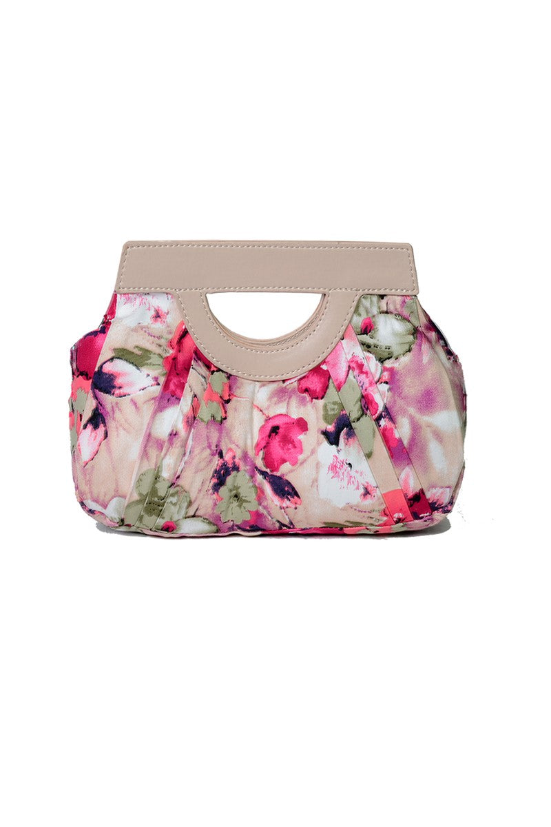 099 Samantha Floral Clutch