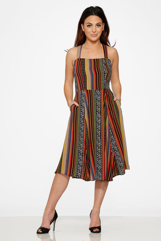 20190 Strip Tribal Dress