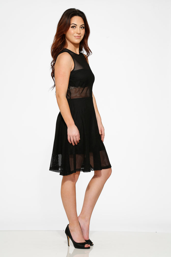 20650 Black Knitted Dress