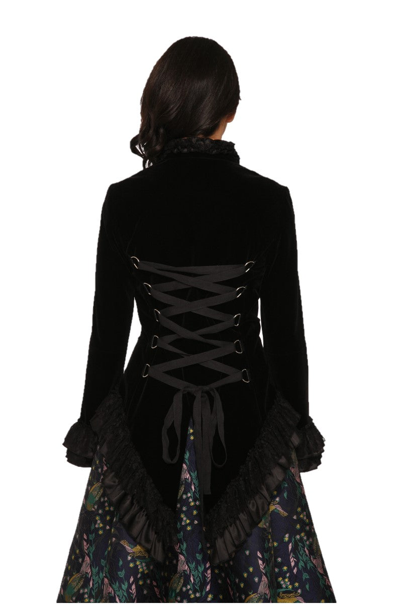 3034 Gloria Jacket in Black Velvet
