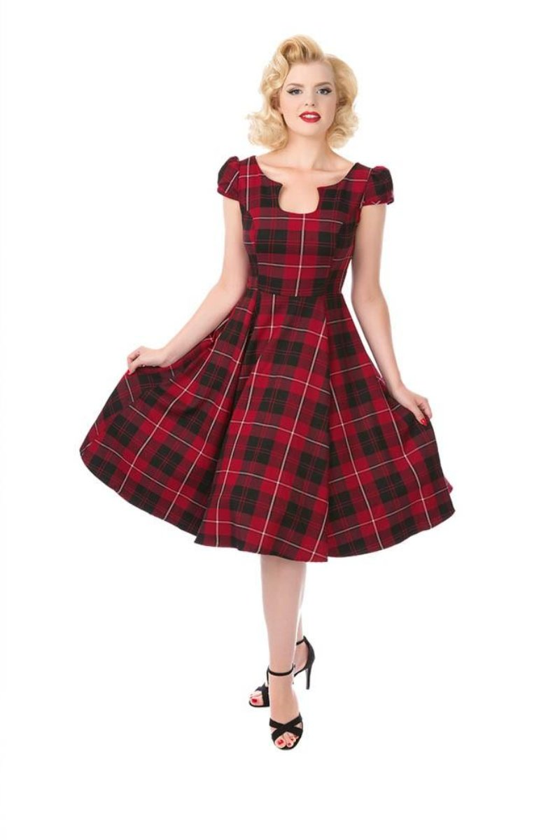3109 Mad for Plaid Dress in Red