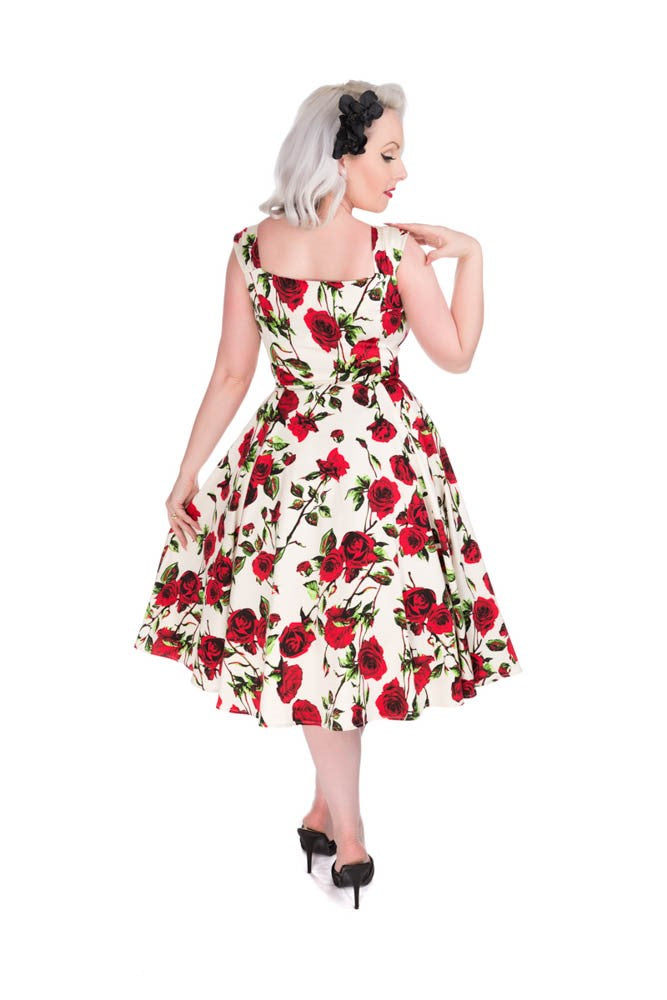 3205 Vintage Rose Swing Dress
