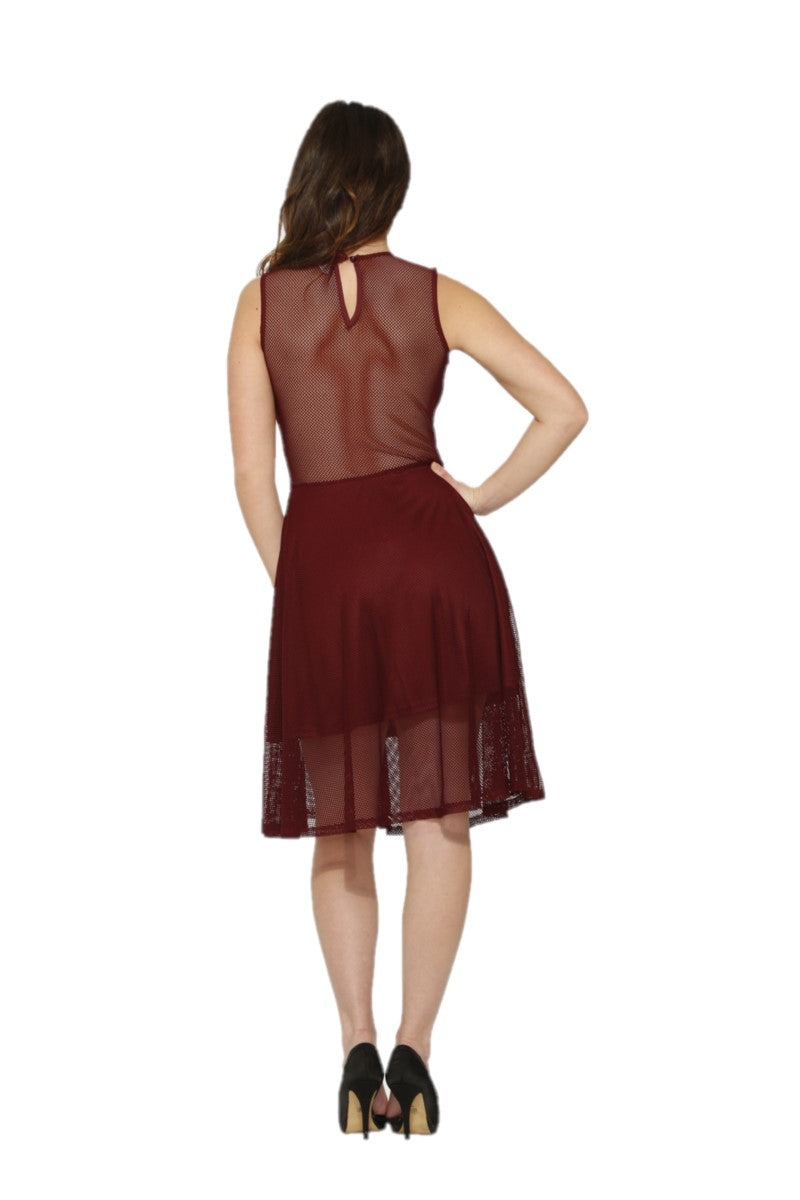 C6179 Burgundy Indecent Dress