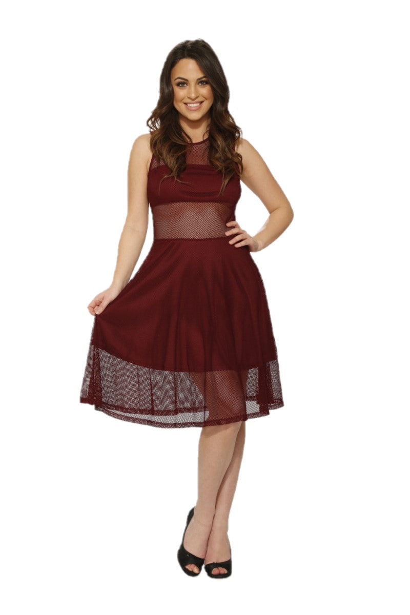 C6179 Indecent Dress in Burgundy