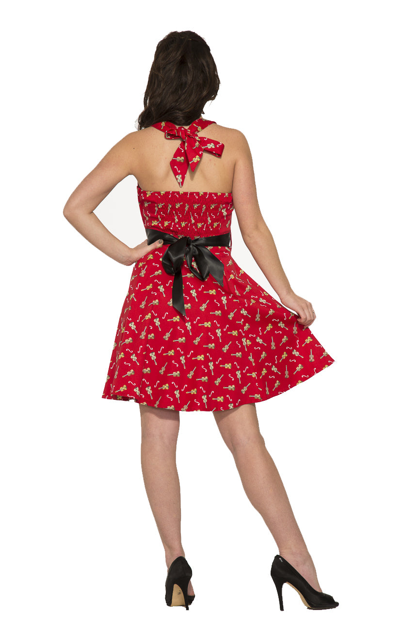 6376 Violin Vixen Mini Dress in Red