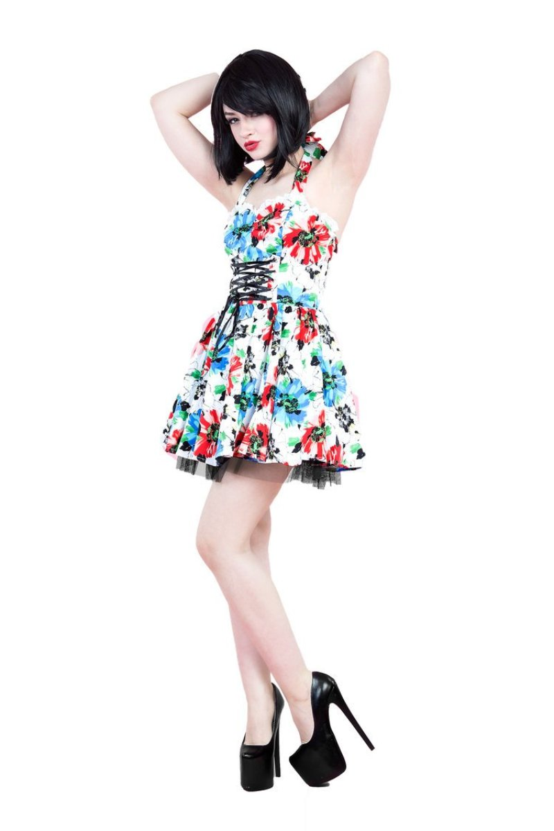 6854 Holiday Wildflower Mini Dress