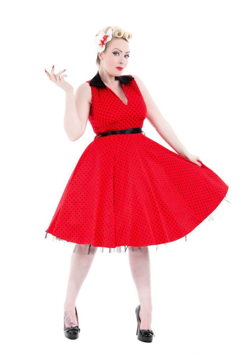 6875 Waitress Dress In Red