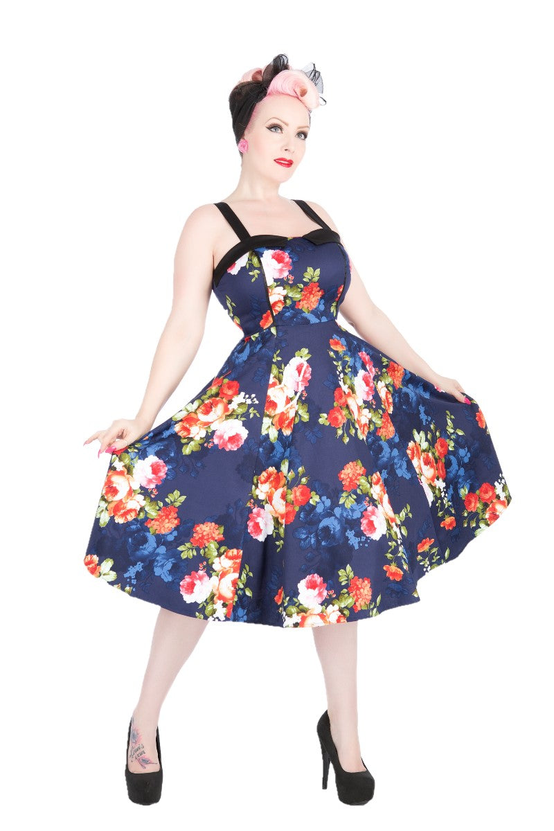 9320 Navy Floral Sundress