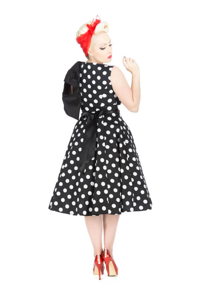 9354 Bolero Dress In Big Dots