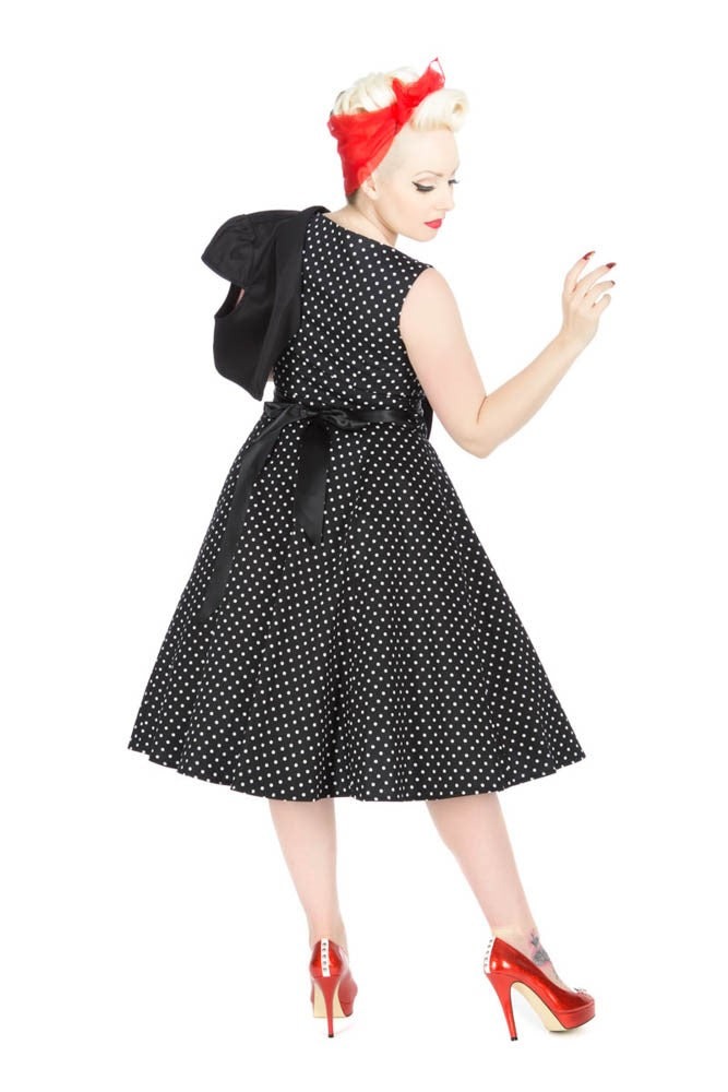 9354 Bolero Dress In Polka Dots