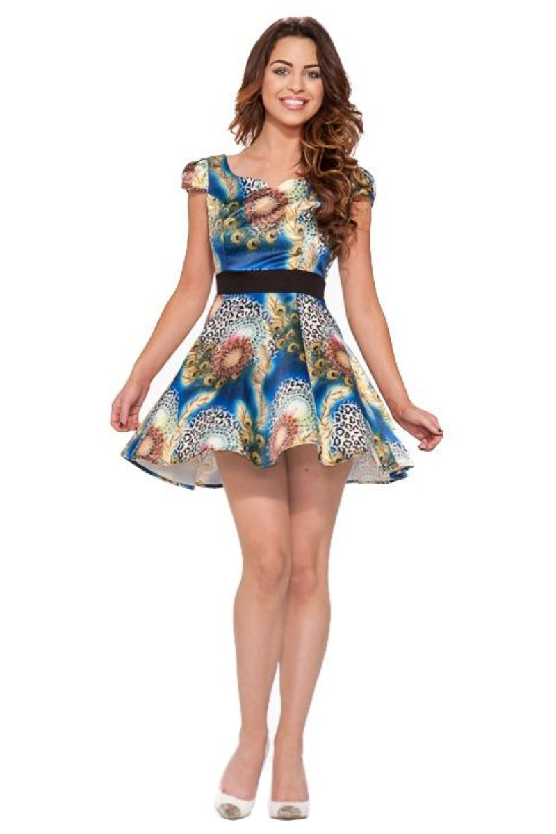 9378 Peacock Mini Dress