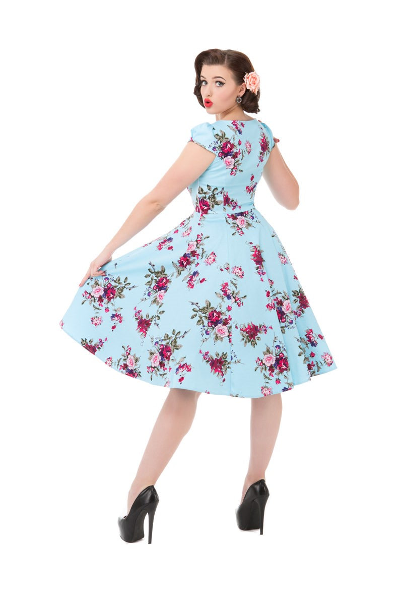 9836 Royal Ballet Swing Dress in Blue