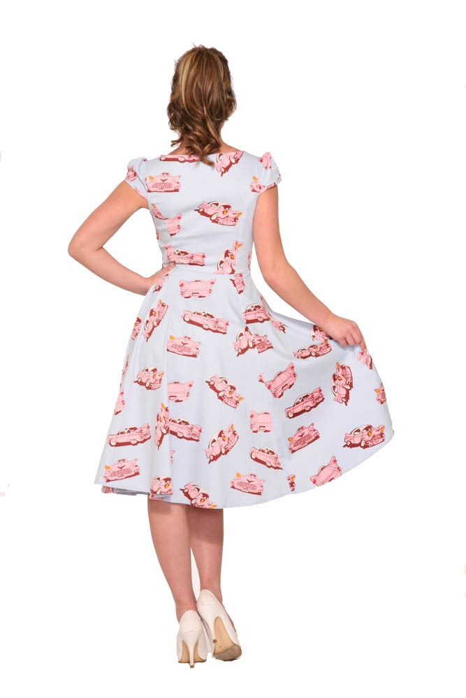 9836 Car Hop Swing Dress