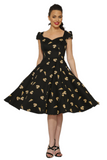 9836 Love Pizza Dress in Black