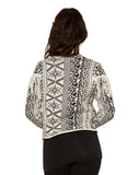 C6272 Snowy Fair Isle Sweater Jacket