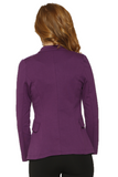 C6421 Purple Zipper Jacket